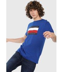 camiseta azul royal-blanco-rojo tommy hilfiger,