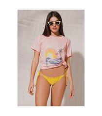 camiseta t-shirt água de sal sunset lovers rosa