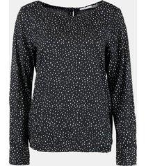 blusa manga larga estampada negro esprit