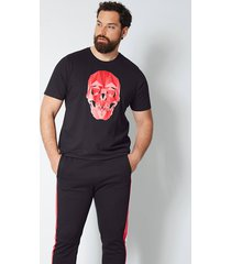 t-shirt men plus svart::röd
