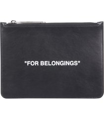 off-white quote pouch