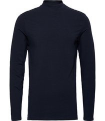 theo ls turtle neck t-shirt t-shirts turtlenecks blå casual friday