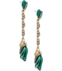 tulip pavé drop earrings