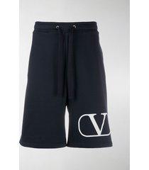 valentino vlogo drawstring shorts