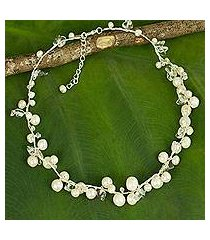 pearl strand necklace, 'river of snow' (thailand)