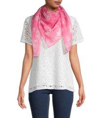 alexander mcqueen women's silk chiffon skull-print scarf - rose