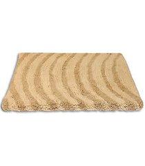 """""""wellenlinien"""" beige badezimmer matte teppich weich 100% baumwolle 50x80 cm"""