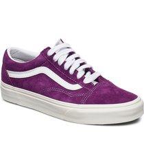 ua old skool låga sneakers lila vans