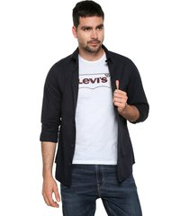 camisa azul navy jack & jones