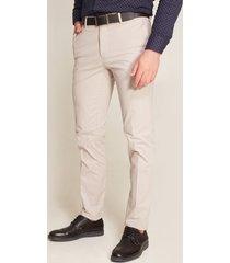 pantalón formal corte recto beige 40