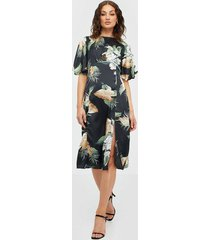 ax paris short sleeve midi dress loose fit dresses