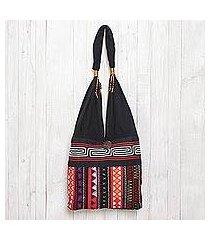 cotton shoulder bag, 'ideal thai' (thailand)
