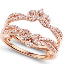diamond (1/2 ct. t.w.) ring enhancer in 14k rose gold