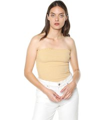crop top amarillo-blanco active