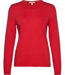 sweaters stickad tröja röd edc by esprit