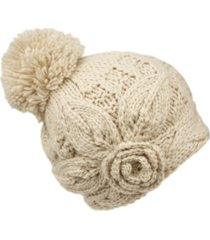 angela & william wool blend earflap cap with sherpa lining