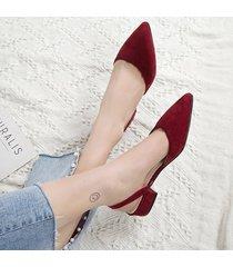 sandalias de mujer con gamuza gruesa.