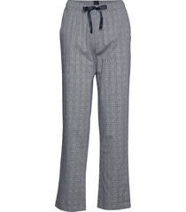 long pants pyjamasbyxor mjukisbyxor blå schiesser