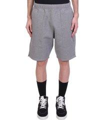 ami alexandre mattiussi shorts in grey cotton