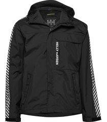 vector packable rain jacket tunn jacka svart helly hansen