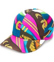 versace belt print baseball cap - pink
