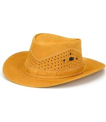 chapéu fourcountry australiano amarelo furado