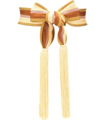 forte forte striped tassel belt - neutrals