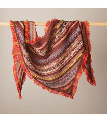 sundance catalog women's aspirations scarf in red clay