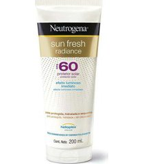 protetor solar neutrogena sunfresh radiance fps 60 200ml