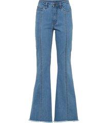 jeans a zampa con impunture modellanti e poliestere riciclato (blu) - rainbow