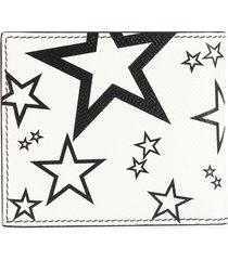 dolce & gabbana star-print bi-fold wallet - white