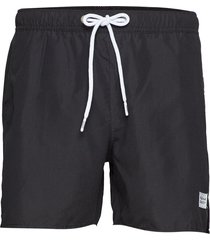 breeze long swim shorts badshorts svart frank dandy