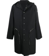 moncler + rick owens bell sleeve trench coat - black