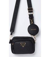 river island womens black ri camera bag with mini pouch