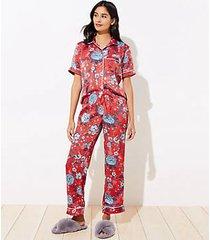 loft floral silky pajama pants