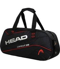 bolso deportivo combat 35 negro rojo head