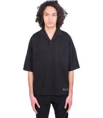 attachment polo in black polyester