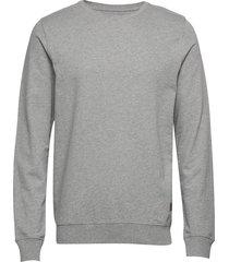 refined crew sweat-shirt tröja grå hackett