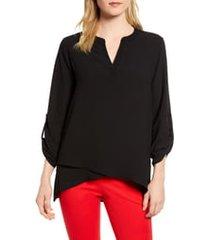 women's gibson x international women's day erin cross front tunic blouse, size xx-large - black