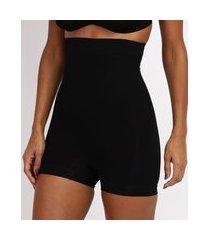 short plié modelador cintura alta preto