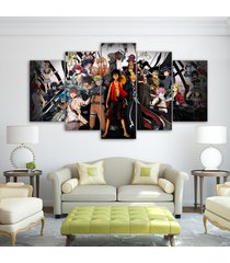 one piece naruto character  5 piece canvas wall art painting print home decor