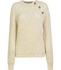 department 5 shoulder-button detail ribbed knit sweater