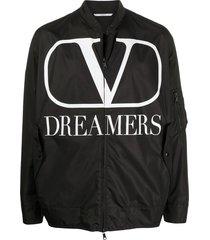 black and white dreamers logo jacket