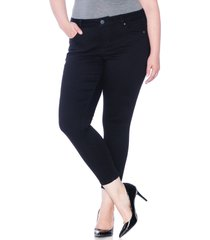 plus size women's slink jeans high waist ankle skinny jeans