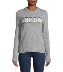 zadig & voltaire women's delly dream cashmere sweater - grey - size xs