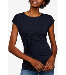 a pea in the pod maternity twist-front t-shirt