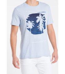 camiseta masculina high summer azul claro calvin klein jeans - pp