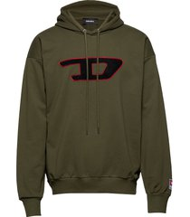 s-division-d sweat-shirt sweat-shirts & hoodies hoodies groen diesel men
