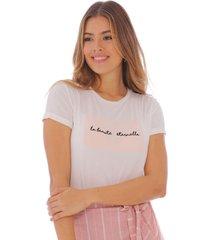 camiseta con estampado gráfico para mujer x49577