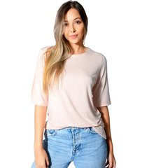 blusa jessica jersey para mujer color siete - beige